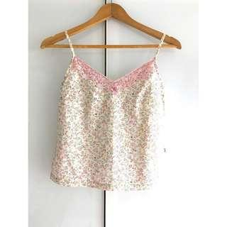 $5 SALE: Bum Equipment Pink Floral Spag Top (do you see this marked sold? no. then OBVIOUSLY ITS AVAILABLE)