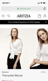 Aritzia blouse size xs
