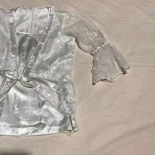 White blouse for formal prty