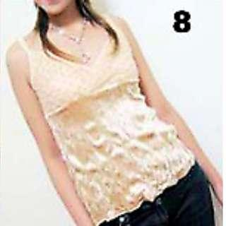 $5 SALE: Velvet Gold Spag Top (do you see this marked sold? no. then OBVIOUSLY ITS AVAILABLE)