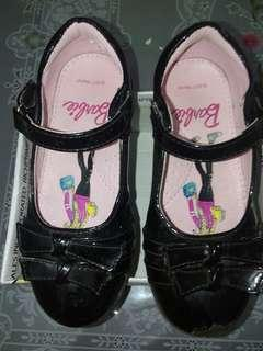 Barbie girls black school shoes