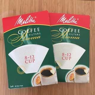 Melitta 大coffee filters 40bags/box 咖啡濾紙