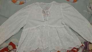 Blouse putih Zara