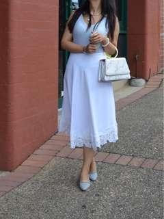 Seed white skirt