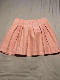 GG5 skirt retro print orange