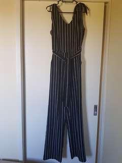 Pinstripe Jumpsuit Size 10
