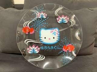 全新 28cm Hello Kitty 玻璃大碟 超靚罕有 made in Japan