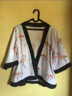 📌SALE outer flamingo cardigan luaran