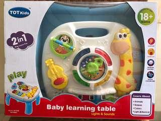 Tot kids baby learning table