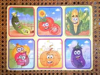6 in 1 vegetable puzzle