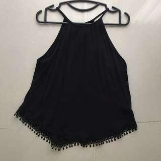 🚚 H&M Black Halter Top