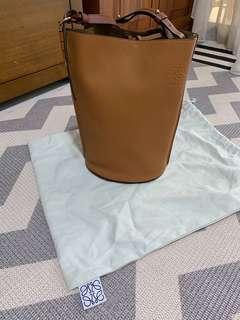 Loewe Gate Bucket Bag in Tan