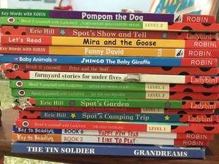 🚚 Pre school story books Ladybird and Robin
