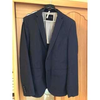 專櫃正品SISLEY深藍色西裝外套