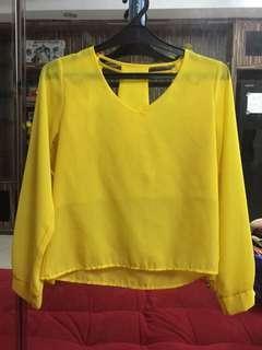 woman blouse sifon yellow
