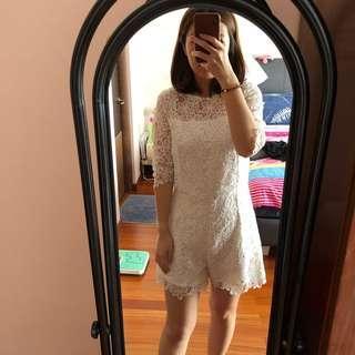 Cloth Inc Lace Jumpsuit White - M