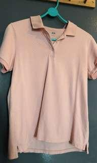 Uniqlo light pink collared shirt