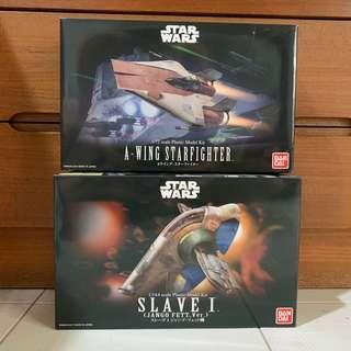 Bandai Star Wars models