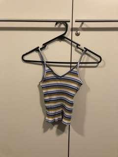 Yellow & Blue Striped T-Shirt