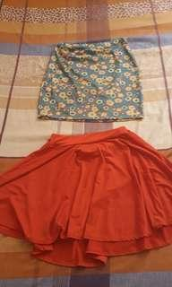 Pencil and flowy skirt pair