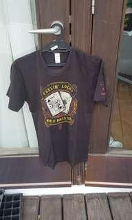 World Poker Tour Black T Shirt Texas Hold Em Small