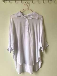 斯文白色恤衫