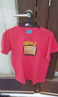 Vintage Rags Red Street Fighter 2 Cotton Men T Shirt Medium
