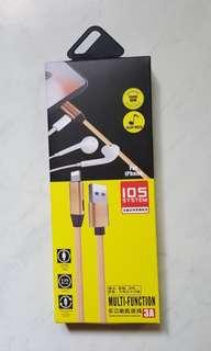 dual charger n earpiece for iphone