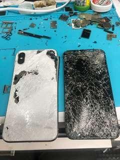 Apple IPhone X爆芒爆底玻璃即場更換 旺角信和中心2樓134a