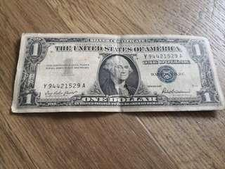 Us currency usd 1 series 1957