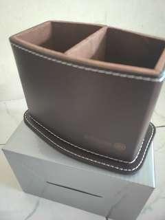 PVC leather pen holder