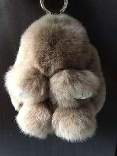 Fluffy Rabbit Keychain