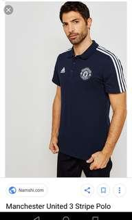 🚚 Authentic Manchester United 3-Stripes Polo Shirt 18/19