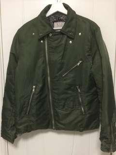 男裝L Size綠色夾綿外套
