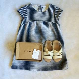 086dd76bda69 Zara baby dress × zara sandals