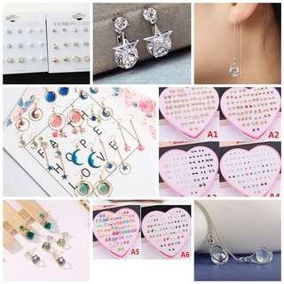 🚚 Earring/ear cuff/ear sticks grab bag