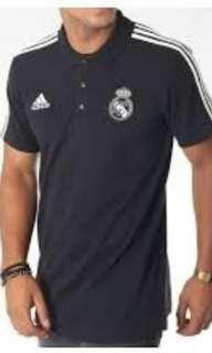 🚚 Authentic Real Madrid 3-Stripes Polo Shirt