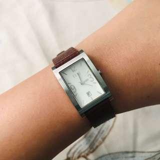 Elle Leather Watch