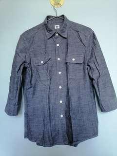 Uniqlo men's 3/4 sleeves shirt