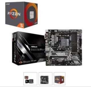 🚚 Ryzen 5 2600 + Asrock B450M Pro 4