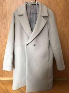 優衣庫灰色大衣