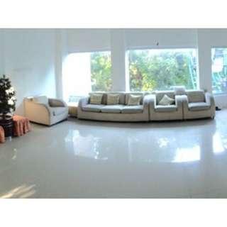 White Sofa Set or Sala Set
