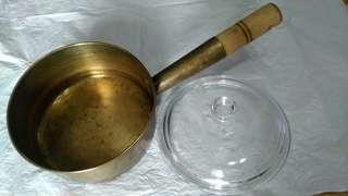單柄銅煲 粥鍋(合粥店用) 連玻璃蓋