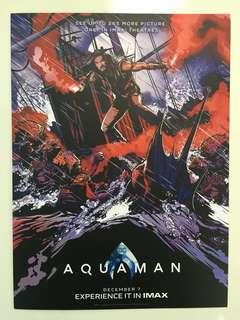 """Original """"Aquaman"""" IMAX movie poster with Chinese comic booklet and collectible card"""