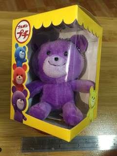 BOURBON北日本可愛小熊-吊飾(紫)