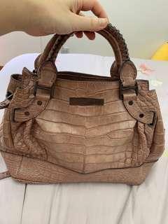 Burberry crocodile skin bag