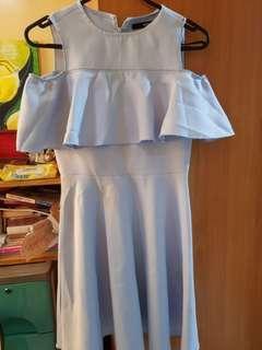 Mossimo powder blue offshoulder dress