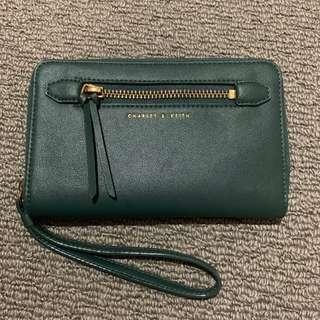 Charles & Keith green wallet