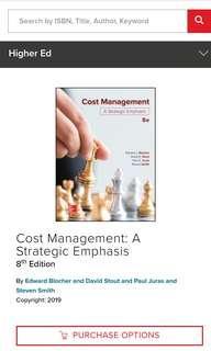 Cost Management - A Strategic Emphasis 8 Edition (PDF)