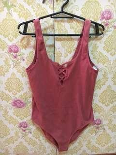 F21 Bodysuit (Old Rose)